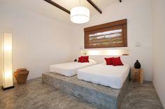 Polished concrete beds