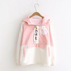 Kawaii Fashion, Cute Fashion, Look Fashion, Teen Fashion, Korean Fashion, Womens Fashion, Filles Alternatives, Sweatshirt Outfit, Kawaii Clothes