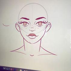 #workinprogress #wip #girl #face #vector #illustration #adobeillustrator #beauty #strong #freckles #lips #outlines
