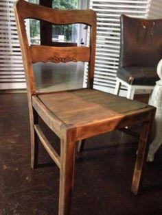 Stuhl, Vintage - Fundstück, Shabby,Holz massiv, Antik-Finish in Kastorf