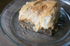 """#Vegan Pumpkin Cheesecake Bars, you had us at """"pumpkin cheesecake bars."""""""