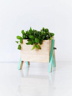 Artsy beach glass planter box #COTM