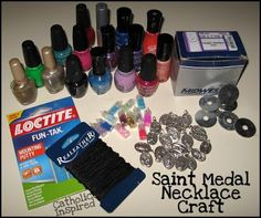 Catholic Inspired ~ Arts, Crafts, and Activities!: Saint Medal Necklace Craft {Catholic Teen Girl Fun!!!}