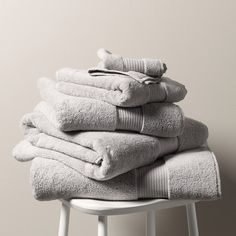 Egyptian Cotton Towels - Pearl Grey   The White Company