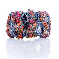 Arunashi: Fire Opal & Diamond cuff