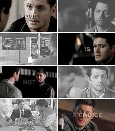 Love is not a choice Destiel Headcanon, Supernatural Tv Show, Cockles, Teen Wolf, Sherlock, Cas, Nerd, Feels, Middle
