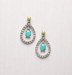 Loft, Gem Teardrop Stone Earrings