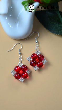 Diy earrings 39688040453709483 - Red Rhombus Beaded Earrings Source by pandahallcom Beaded Earrings Patterns, Beaded Tassel Earrings, Diy Earrings, Bracelet Patterns, Beading Patterns, Fabric Earrings, Square Earrings, Seed Bead Jewelry, Bead Jewellery