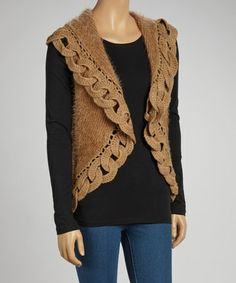 f2de85b79382d Another great find on  zulily! Taupe Wool-Blend Vest by JohnFashion   zulilyfinds