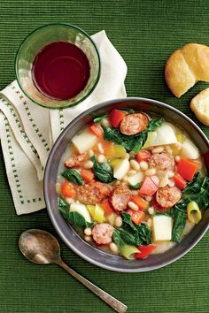 White Bean, Sausage, and Turnip Green Stew - November 2015 Recipes - Southernliving. Recipe: White Bean, Sausage, and Turnip Green Stew  Turnip greens, a Southern staple, have a peppery and slightly sweet taste. Look for smaller leaves or baby turnip greens, which are more tender.