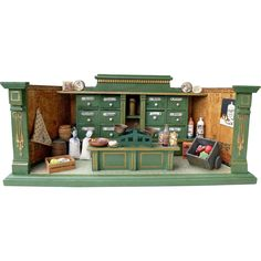 Antique German Grocery store 1900, nice color and detail. .....Rick Maccione-Dollhouse Builder www.dollhousemansions.com