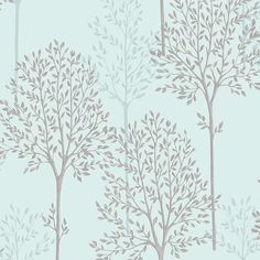 New wallpaper bedroom feature wall shabby chic ideas Duck Wallpaper, Trendy Wallpaper, Blue Wallpapers, Feature Wallpaper, Brown Wallpaper, Tree Wallpaper Living Room, Bedroom Wallpaper, Kitchen Wallpaper, Duck Egg Blue Bedroom