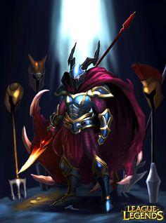League of Legends- Dragon Hunter Phanteon by on DeviantArt Pantheon League Of Legends, Lol League Of Legends, Pantheon Lol, Dragon Hunters, Myths & Monsters, Armadura Medieval, Knight Armor, Weapon Concept Art, Medieval Knight