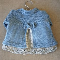 Back of Charlee Baby Girl Jacket on Ravelry.