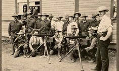 The Colt machine guns used by the Rough Riders. The photo was taken in the Rough Rider camp in San Antonio, Texas, prior to their service in Cuba The Spanish American War, American History, Texas Rangers Law Enforcement, Fort Sam Houston, Rough Riders, Texas History, Old West, Military History, Vintage Photographs
