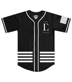 League Baseball Jersey in Black