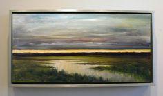 Landscape Dusk over Wetlands Original Large by KnightsbridgeArt
