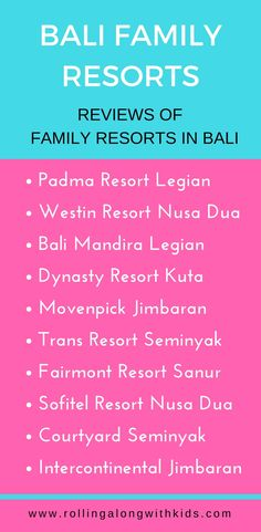 Bali Family Resorts - Part 2 - Rolling Along With Kids Resorts For Kids, Hotels For Kids, Beach Resorts, Bali With Kids, Travel With Kids, Family Travel, Family Friendly Resorts, Family Resorts, Bali Family Holidays