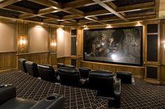 Movie Theater - traditional - media room - minneapolis - John Kraemer & Sons