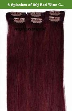 6 Splashes of 99j Red Wine Color Remy Salon Grade Beauty Supply Clip on Hair Extensions. These are 100% handmade in the USA by MyLuxury1st. All orders usually ship within 6-10 business days. If for some reason you are unable to wait, please Do Not Order. Please be Considerate as these are handmade and take time and money. Please contact Myluxury1st at anytime with questions. Check my storefront for additional information and feedback. I do not have the ability to rush orders, I am a 1…