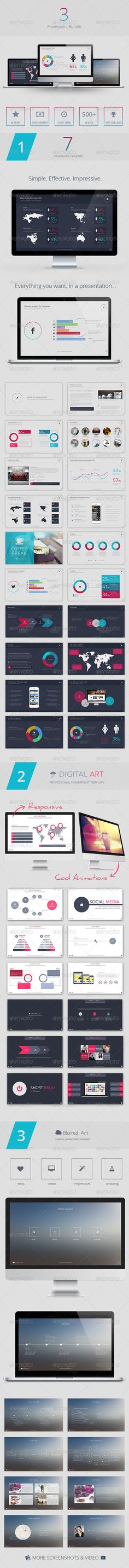 3 Powerpoint Bundle - Creative Powerpoint Templates