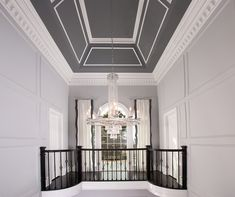 [New] The 10 Best Home Decor (with Pictures) - Chandeliers are marvels of drop-dead showiness the jewelry of architecture. Click the link in the bio to see more of this UPSCALE CLASSIC FOYER Interior Columns, Custom Window Treatments, Interior Decorating, Interior Design, Entryway Decor, Foyer, Custom Lighting, Furniture Upholstery, Dream Rooms
