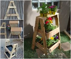 Reclaimed Wood Herb or Plant Stand!