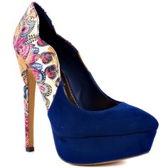 2 Lips Toos Multi-Color Too Tap - Blue for 54.99 direct from heels.com