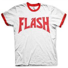 Flash Gordon T-shirt Stripe (wit/rood) Flash Gordon, Movie T Shirts, High Quality T Shirts, Retro, Mens Tops, Stuff To Buy, Costume, Tv, Fashion