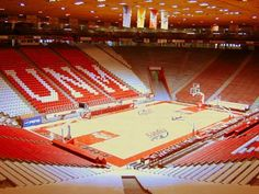 The Pit, University Arena, basketball court for University of New Mexico. Site of my high school graduation, 1967, and many great rock concerts.