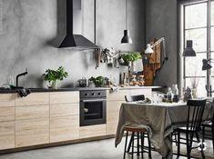 How To Make A Small Kitchen Looks Bigger? - Interior Decor and Designing Ikea Kitchen Design, Ikea Kitchen Cabinets, Kitchen Chairs, Kitchen Furniture, Kitchen Decor, Kitchen Ideas, Floors Kitchen, Kitchen Craft, Kitchen Designs