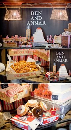 donut station at your wedding reception!