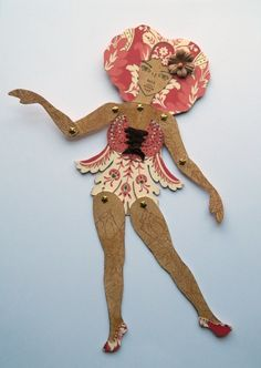 Jointed Paper Doll Natural Hair Beauty by JuliaPeculiar on Etsy  https://www.etsy.com/shop/JuliaPeculiar