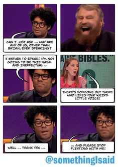 Was It Something I Said?: The voices of Brian Blessed and Richard Ayoade