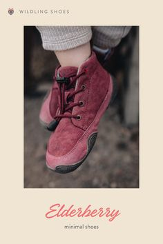 This mid cut's burgundy Canvas upper brings a pop of autumn color to your feet. Let's start a new adventure in barefoot shoes by Wildling Shoes. picture: Sarah Pabst #minimalshoes #sustainability #fairfashion #barefootshoes #winter #wool Vegan Fashion, Slow Fashion, Minimal Shoes, Barefoot Shoes, Natural Parenting, Ride On Toys, Vegan Shoes, Sustainable Fashion