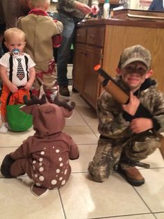 Brother sister hunter and deer costume | sibling theme costume | Halloween sibling baby and child costume | unique sibling Halloween costumes