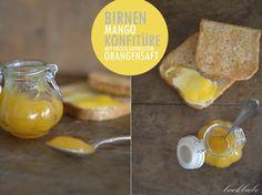 Birnen-Mango-Konfitüre mit frisch gepresstem Orangensaft - Ein fruchtiger Start in den Tag... - Backbube