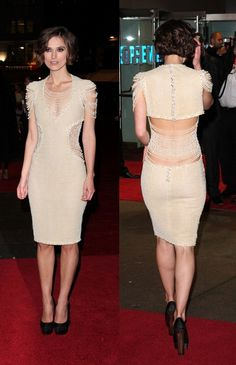 Keira Knightley in Chanel (Personally, I would've gone with nude heels)
