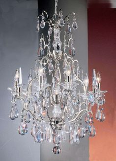 Aliexpress.com : Buy simple chrome crystal chandelier light 7 lights living room chandelier with crystal drop E9015 58cm W x 80cm H from Reliable chandelie suppliers on HK SUNWE LIGHTING CO., LTD.