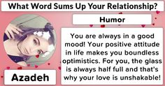 What Word Sums Up Your Relationship?