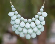 Teardrop Necklace in MINT, Inspired Necklace, J Crew Bubble Necklace, Anthropologie Necklace