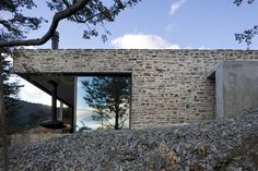 Mountain Retreat...love this! Like angular lines, gives contemporary feel yet materials soften.
