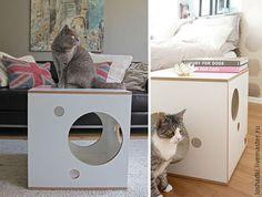 Аксессуары для кошек, ручной работы. Тумба