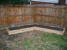 corner raised flower bed