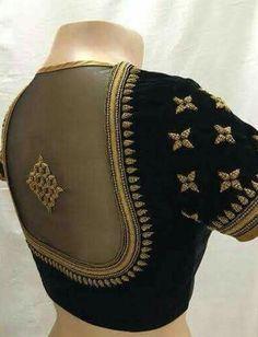 Elegant designer blouses with saree online Read more about Pattu Saree Blouse Designs, Saree Blouse Patterns, Designer Blouse Patterns, Pattern Blouses For Sarees, Black Saree Blouse, Choli Designs, Salwar Designs, Black Blouse Designs, Simple Blouse Designs