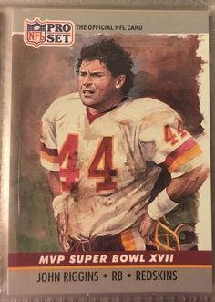 1990 Pro Set Super Bowl MVP John Riggins 17 Redskins Near Mint Combined s H | eBay