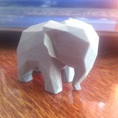 Elephant low poly