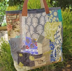 Large Patch bag  Funky tote bag  Over sized bag   by KennaInAfrica