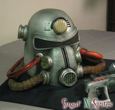 A Fallout Power Armor cake. Wow.