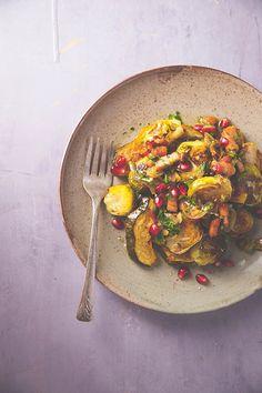 Salade tiède de choux de bruxelles et lardons